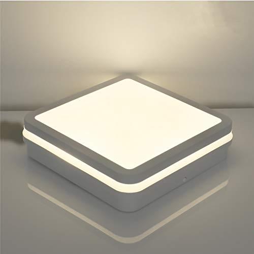 Lámpara LED de techo para cuarto de baño, 18 W, 1800 lm, 4000 K, luz blanca neutra, IP54, resistente a salpicaduras, para...