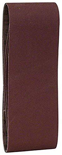 Bosch 2 609 256 202 - Juego de hojas de lija de 3 piezas para lijadora de banda, calidad roja (pack de 3)