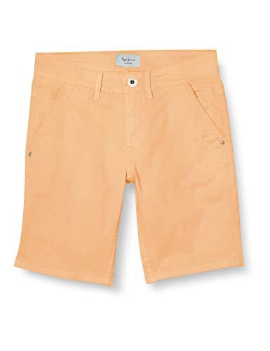Pepe Jeans BLUEBURN Short Jeans, Naranja (Acid Orange 112), 6-7 Anos para Niños