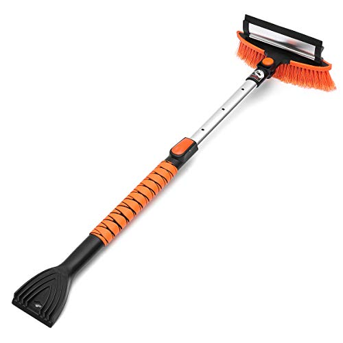 Our #7 Pick is the MATCC Snow Brush with Squeegee and Ice Scraper