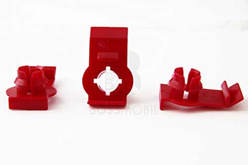 Original BOSSMOBIL kompatibel mit FENSTERHEBER BEFESTIGUNGS CLIP KUNSTSTOFF ROT KLEMME ROT E46#NEU# 38 X 24 X 0 Menge: 5 Stück