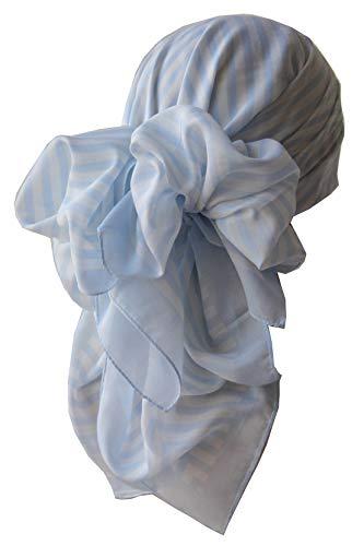 Deresina Headwear Deresina Headwear Frauenalltags Weiche Quadratisch Kopftücher (1mx1m) (101 Baby Blue Cream)