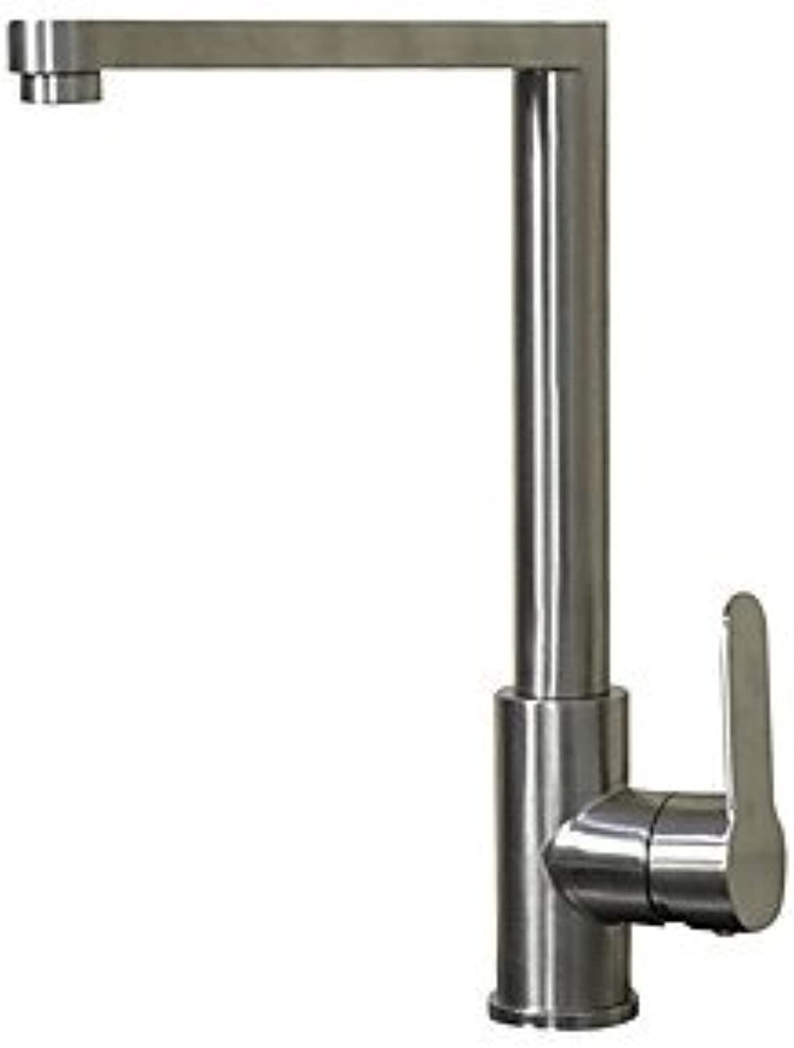 TSAR003 Contemporary Standard Spout Centerset redatable With Ceramic Valve Single Handle One Hole For Nickel Brushed , Kitchen Faucet