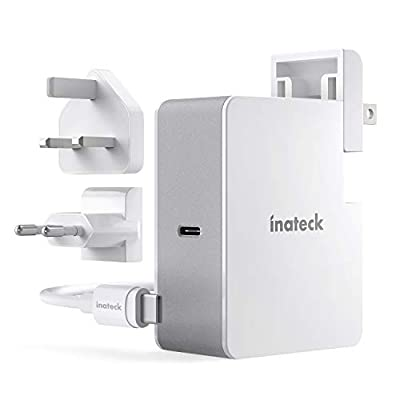 Inateck 45W USB C Charger with 2 M USB C Cable, Adapter Power Supply Charger with Power Delivery for Type C devices, White
