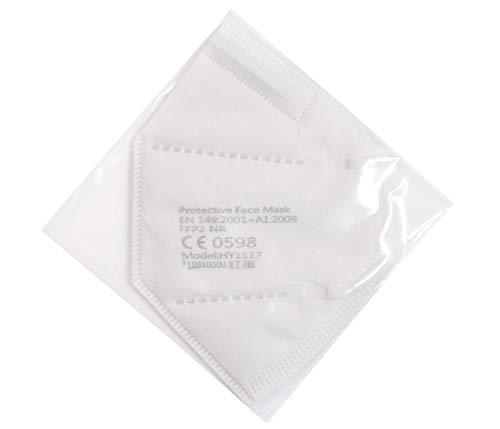 Premium Mundschutz Atemschutzmasken zertifizierte FFP2 Masken Infektionsschutz Gesichtsmaske Staubschutz Schutzmaske (20 Stück) - 6