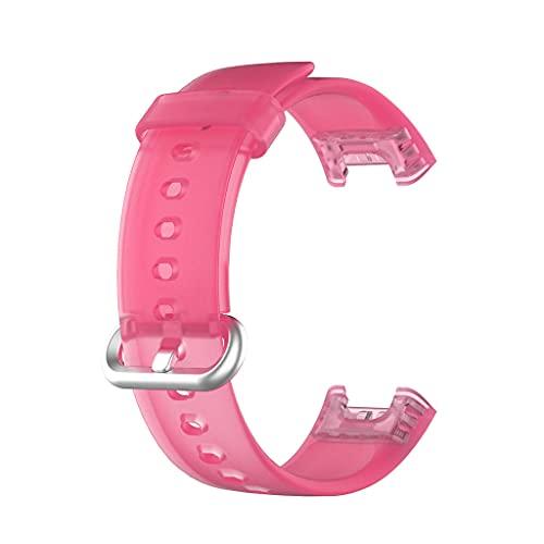YUYAN Correa de silicona para reloj Mi Watch Lite/Redmi Reloj Original Transparente Sport Pulsera Reemplazo 21.5mm