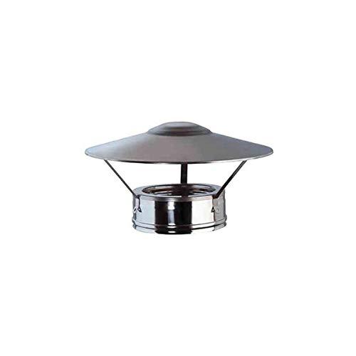 cheminée air ISOLE DN 080/100 chapeau chinois tube en acier inoxydable à double paroi 316