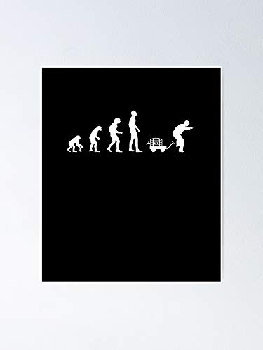 Evolution Man Day Poster 12x16 Inch No Frame Board for Office Decor, Best Gift Dad Mom Grandmother and Your Friends