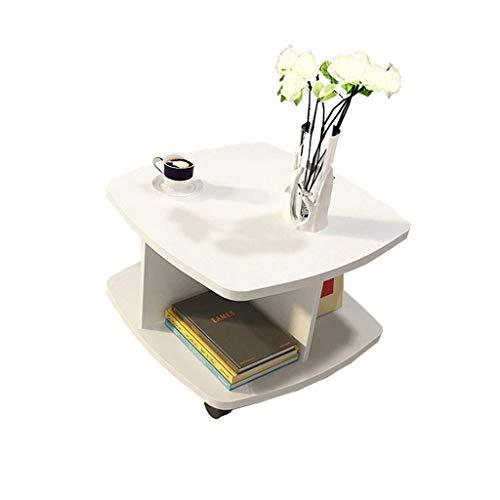 FACAIA Mesa con Ruedas de 360 Grados, Mesa de Centro pequeña con Placa móvil, Lado Simple, Muebles de Sala de Estar, Mesa de té Cuadrada multifunción Mesas Nido (Color: B)