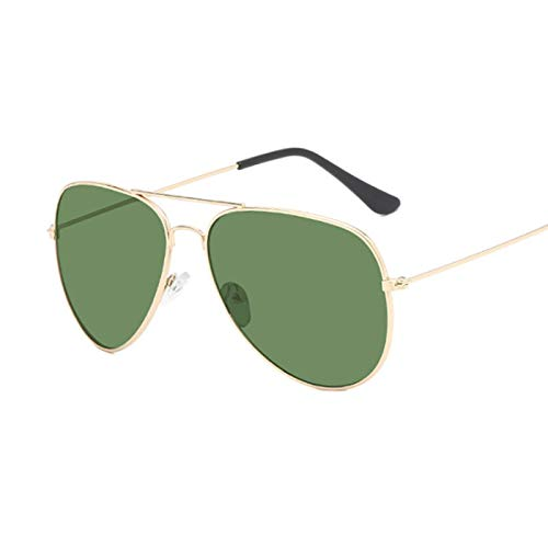 NJJX Gafas De Sol De Piloto Para Mujer A La Moda, Gafas De Sol Coloridas Para Mujer, Gafas De Sol Con Espejo Goldg15