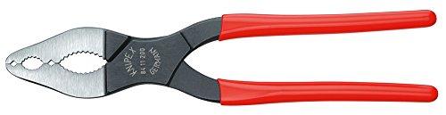 KNIPEX 84 11 200 Pinza per coni delle biciclette e delle moto bonderizzata nera rivestiti in resina sintetica 200 mm