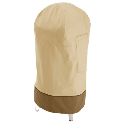 Classic Accessories 73002 Veranda Water-Resistant 19 Inch Round Smoker Grill Cover,Pebble,Round Medium