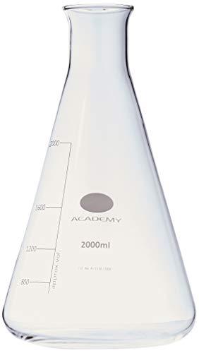 Academy 0W-3Y2K-DQCF-FBA CONICAL ERLENMEYER FLASK 2L 2000ML BOROSILICATE GLASS