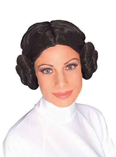 Star Wars Prinzessin Leia Perücke dunkelbraun