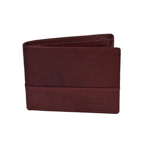 Pierre Cardin - Cartera para hombre, piel auténtica, con monedero, RFID, con caja de regalo