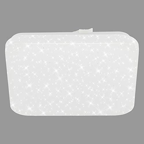 Briloner Leuchten LED Deckenleuchte, Deckenlampe mit Sternendekor, 8 Watt, 900 Lumen, 4.000 Kelvin, Weiß, Quadratisch, 220x220x50mm (LxBxH)