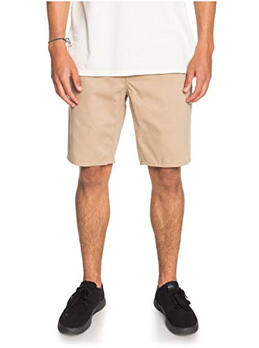 Quiksilver Herren Everyday - Chino-Shorts für Männer Walk, Plage, 34