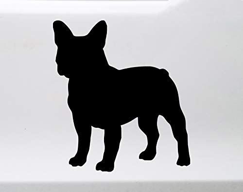 Minglewood Trading Sky Blue - French Bulldog Standing Vinyl Decal - Frenchie Love Dog Puppy - Die Cut Sticker - 9w x 10h inches