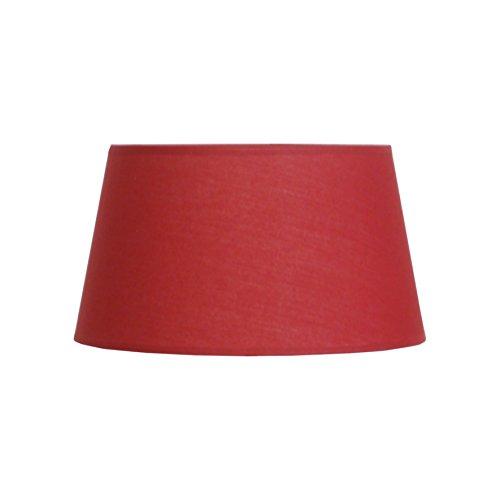 Abat-jour du Moulin CTBTTKAZA3062 Abat-jour lampe KAZA Ø30 en Polycoton coloris Rouge bague E27 Fabriqué en FRANCE, Texture/Structure métalique époxy Blanc