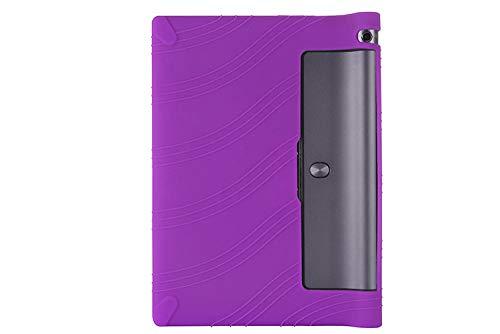 Custodia morbida in silicone per Lenovo Yoga Tab 3 10.1 X50L X50F X50M YT3-X50L Custodia protettiva in silicone anti-rottura-Viola