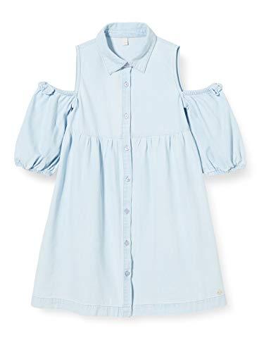 ESPRIT KIDS Mädchen RQ3403302 Dress Kleid, Blau (Light Indigo Denim 415), 104/110 (Herstellergröße: 104+)