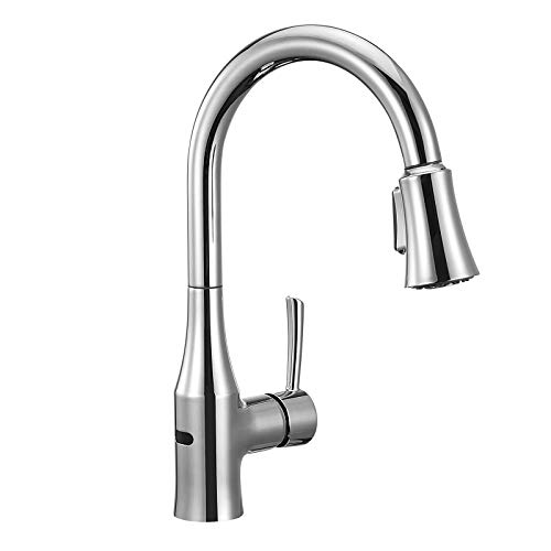 ANZA Touchless Wave Sensor Kitchen Sink Faucet with Pull-Down Dual-Function Sprayer, Modern...