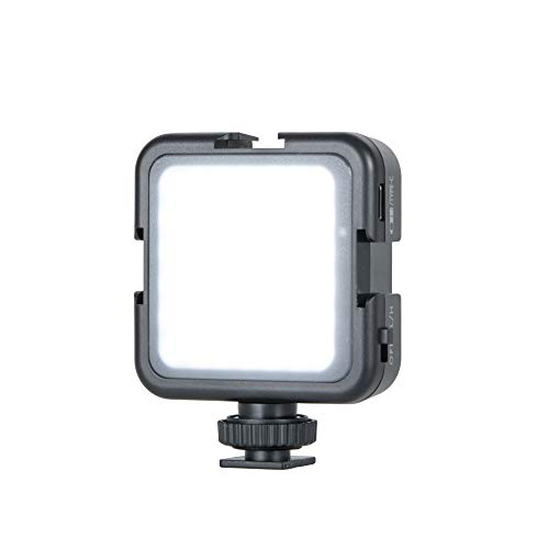 Ultra Bright LED On-Camera Video Light, 42 LED High Power Panel Camera Light, 2-Levels Adjustable, 2000 mAh Rechargeable Battery