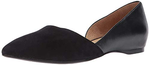 Naturalizer Womens Samantha Pointed Toe Flat, Black, 7 M US