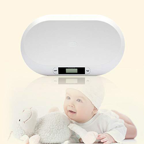 Báscula digital para niños hasta 20 kg, pantalla LED digital, báscula para bebés, control de peso desde el nacimiento, pantalla LCD, función de tara, alta precisión, apagado automático.