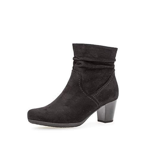 Gabor Damen Stiefeletten, Frauen Ankle Boots,Best Fitting,Reißverschluss,Optifit- Wechselfußbett, Ladies feminin elegant,schwarz,38 EU / 5 UK