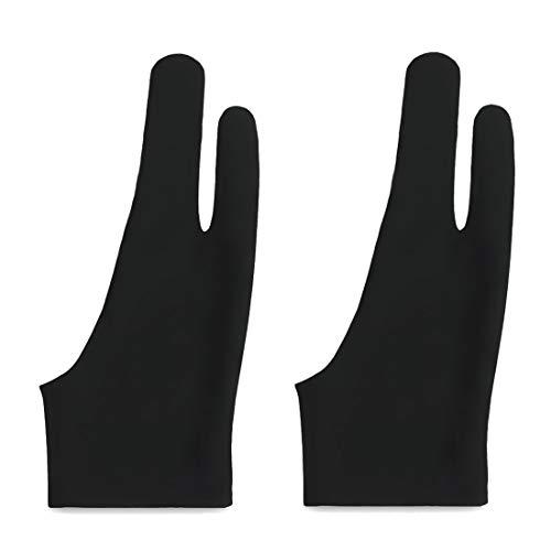 二本指グローブ 二本指 手袋 防汚 通気性 超軽量 快適 2本指 グローブ ライクラ繊維 お絵描き手袋 タブレット 左利き 右利き 便利 通用 フリーサイズ 男女兼用 iPad グローブ 液晶ペン タブレット用 対応(2セット)
