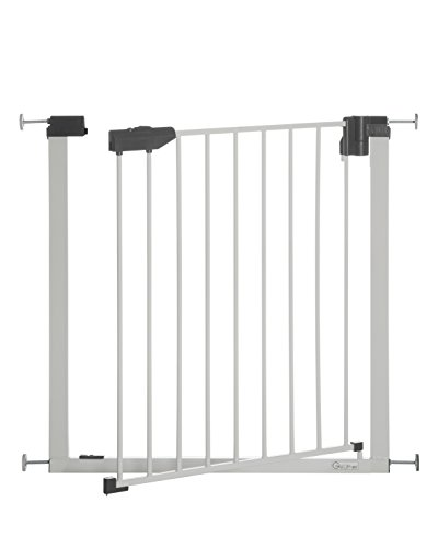 Geuther Easylock light Plus 4765+, Barrière de Sécurité portes/escaliers, Blanc, 74 - 83 cm