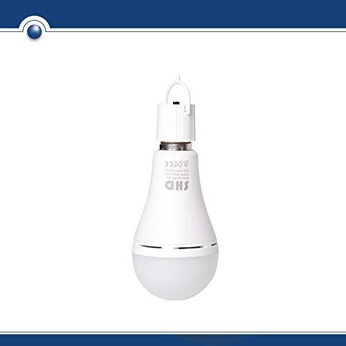 Preisvergleich Produktbild SHD LED E27 Glühbirne aufladbar mit Akku (Glühlampe für Camping,  Zelt) 9W 800 Lumen 4000K Neutralweiß,  Notlicht