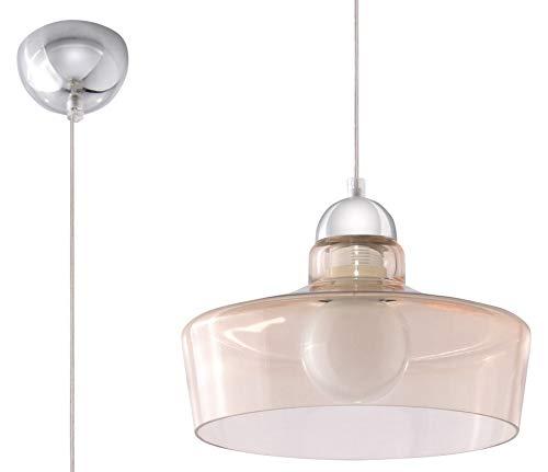 Sollux Lighting Rosalia hanglamp, glas, champagne, chroom