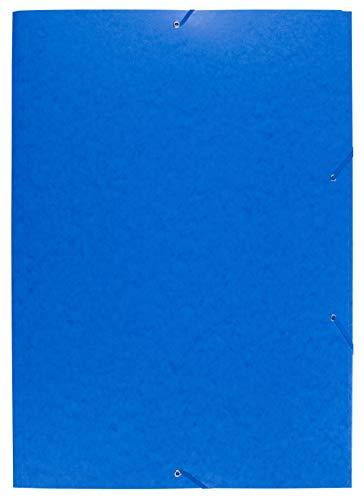 Exacompta - Ref. 59652E Cartella ad elastico 3 lembi carta lucida 600 g/mq - A2 Blu