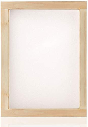 Marco de serigrafía, seda serigrafiada, malla blanca de 110t, resistente y duradero, apto para serigrafía, camisetas impresas, mochilas, bolsos, suelos, ventanas, 35,5 x 25,4 cm