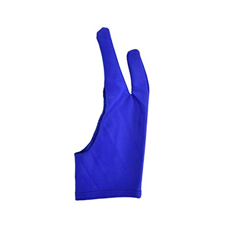 Artist Drawing Glove, Two Finger Glove for Paper Sketching Ipad Graphics Digital Drawing Art Tablet Suitable for Left and Right Hand(S,blue)