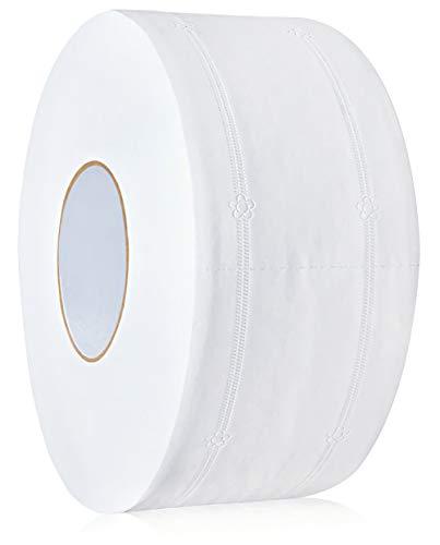 Keleily Toilettenpapier 4Lagig Toilettenpapier Umweltfreundliches Toilettenpapier Jumbo Küchenrollen Duftfrei, Weiß, 9 x 21 cm, 430G