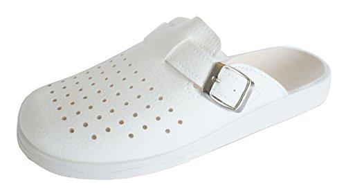 Revise Schuhe für die Arbeit - rutschfeste Sohle - komfortabel und langlebig – Weiß Gr. 46