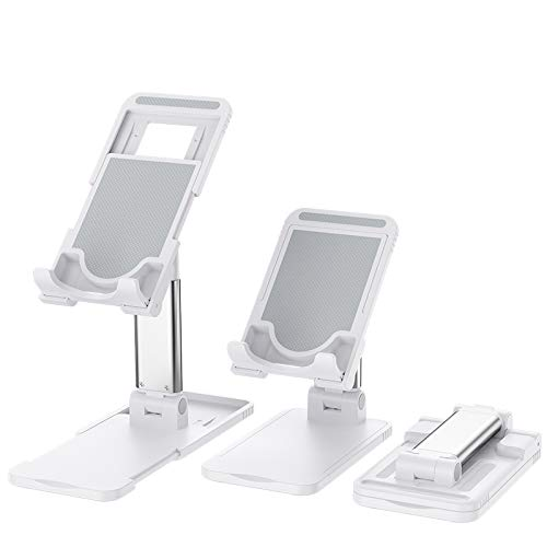 QINUKER Soporte de teléfono Celular Ajustable para Escritorio, Soportes de Tableta Soporte de Soporte para teléfono móvil portátil Compatible con Samsung Galaxy iPad Mini iPhone 11 X XR XS MAX
