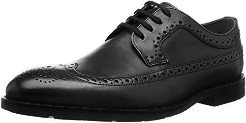 Clarks Men's Ronnie Limit Brogues, Schwarz (Black Leather), 45 EU