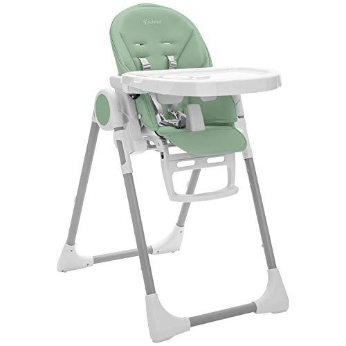 Kinderhochstuhl LOVIS mitwachsender Hochstuhl klappbar 5-fach höhenverstellbar - vom Baby bis zum Kleinkind (Lagune)