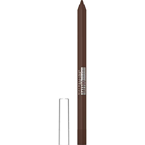 Maybelline New York TattooStudio Eyeliner Makeup Pencil, Effortlessly Glide On Smooth Gel Pigments With 36 Hour Wear, Waterproof, No Smudging, No Flaking, 911 Smooth Walnut, 0.04 Oz