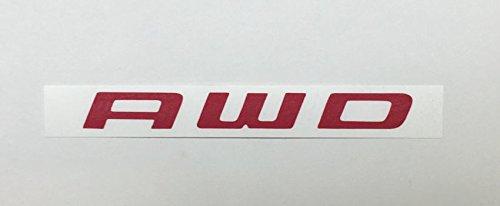 AWD Emblem Overlay Decal - 2011-2018 Durango - (Color: Gloss Red)