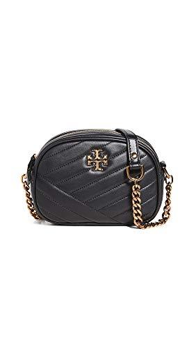 Tory Burch Women's Kira Chevron Small Camera Bag, Black, One Size