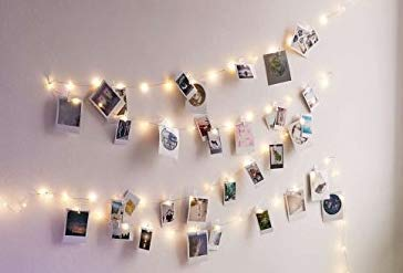 ISOTRONIC Foto Clip Lichterkette mit Klammern Licht LED Fotolichterkette I 24 LED Photoclips I Adventskalender Weihnachten Batterie betrieben (1x24)