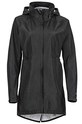 Marmot Wm's Celeste Jacket Giacca Antipioggia Rigida, Impermeabile Leggero, Antivento, Impermeabile, Traspirante, Donna, Black, M