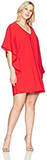 Sharagano Women's Plus Size Tunic Dress
