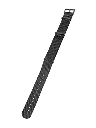 KHS Natoband Black, Ersatzarmband, KHS.EBNB.24