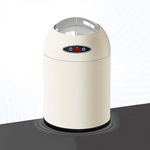 Papeleras La basura recargable de la casa puede ser una basura de inducción inteligente, puede redondear la bote de basura de metal sin toque con la apertura y el cierre de dos vías bote de basura